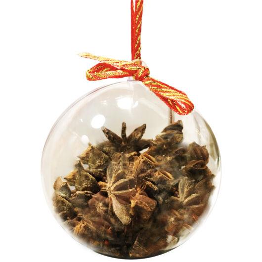 Csillag Ánizs Gintonik fűszer karácsonyi gömb-ben.