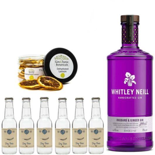 Whitley Neill Rhubarb Ginger Gin Tonik szett ajándék Gin Fűszerrel