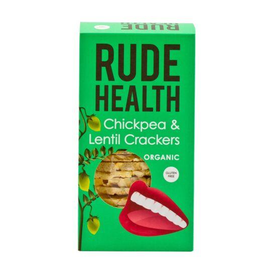 Rude Health Bio Csicseriborsó és Lencse Kréker 120g