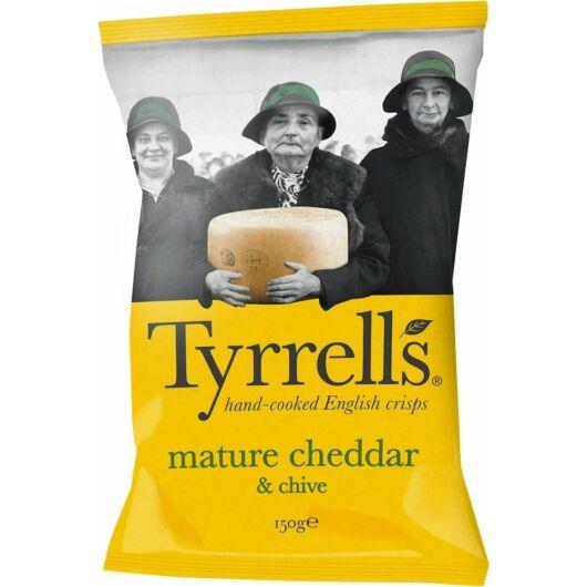 Tyrrell's Burgonyachips - Cheddar sajttal és snidlinggel (40g)