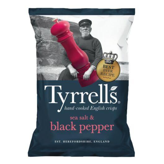 Tyrrell's Burgonyachips - Tengeri sóval és tört fekete borssal (40g)