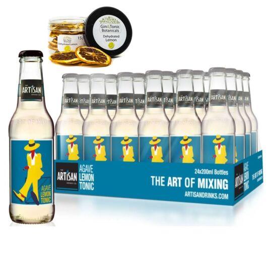 24 db Artisan Agave Lemon Tonic 200ml Ajándék szárított citrom karikával.