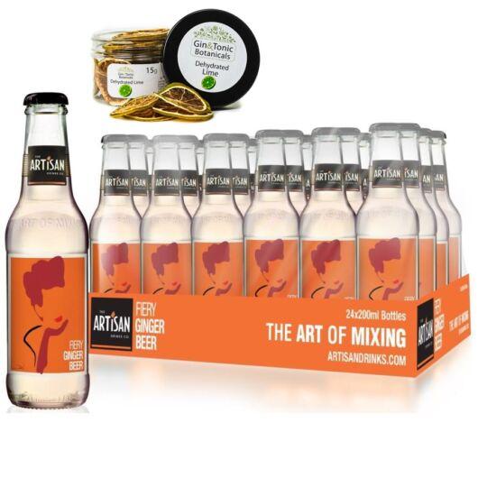 24 db Artisan Firey Ginger Beer 200ml Ajándék szárított lime karikával
