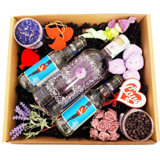 Exkluzív Nőnapi Levendula Gin Tonik szett Dobozban